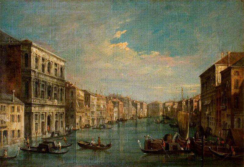 Venice: The Grand Canal Looking South-West from Palazzo Grimani