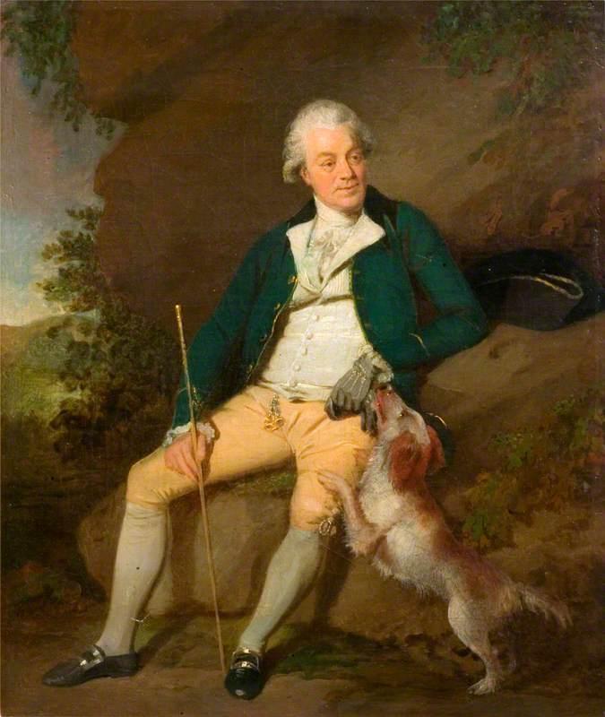 'Mr Nicholas': A Seated Man with a Dog