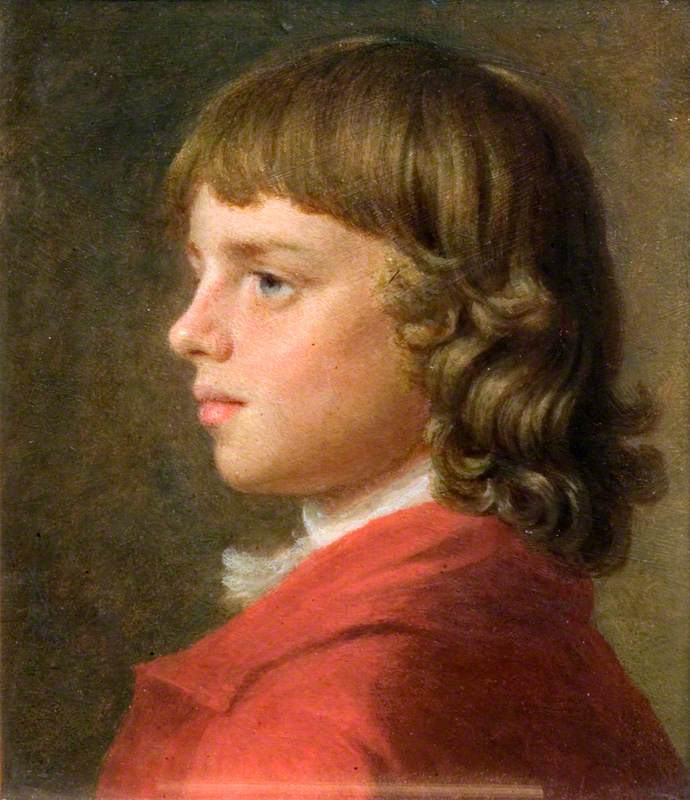 Portrait of a Boy in a Red Coat