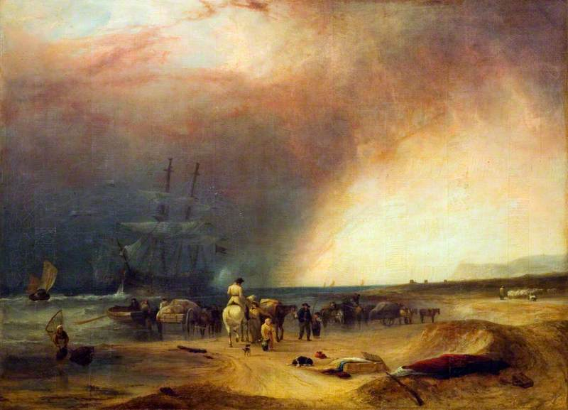 Coast Scene, Stormy Effect