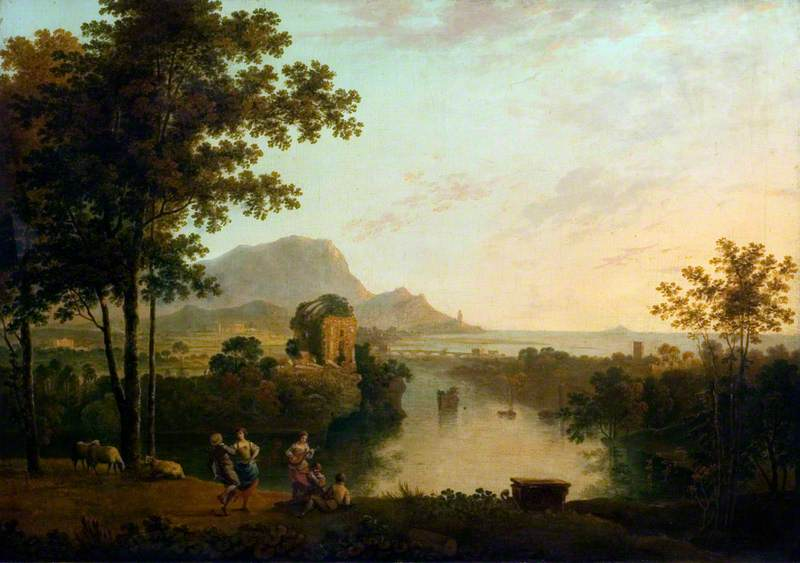 Landscape Composition: River Mouth with Peasants Dancing