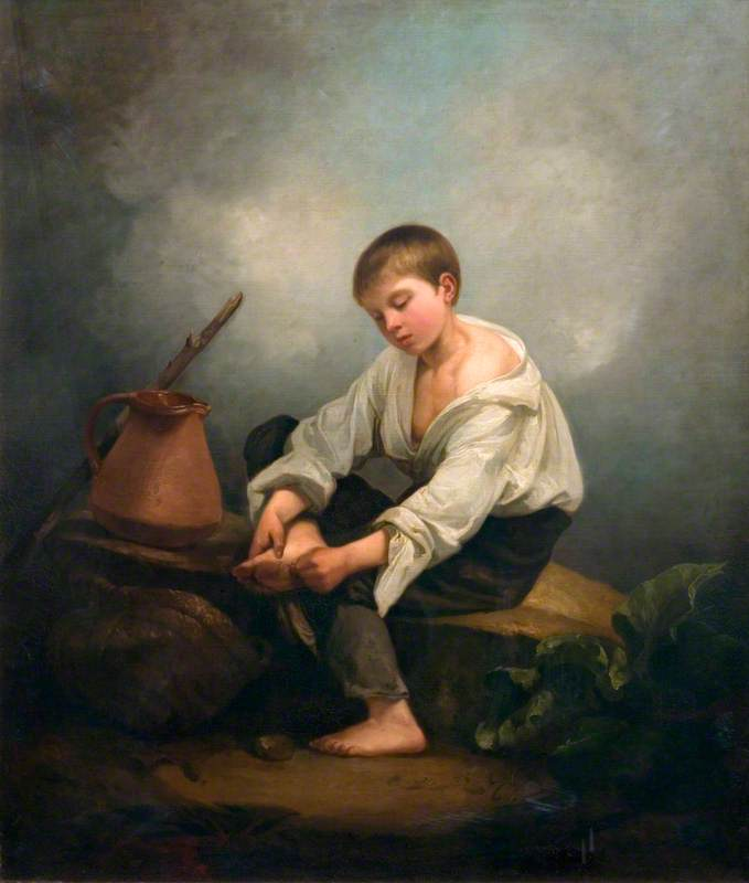 A Boy Extracting a Thorn from His Foot