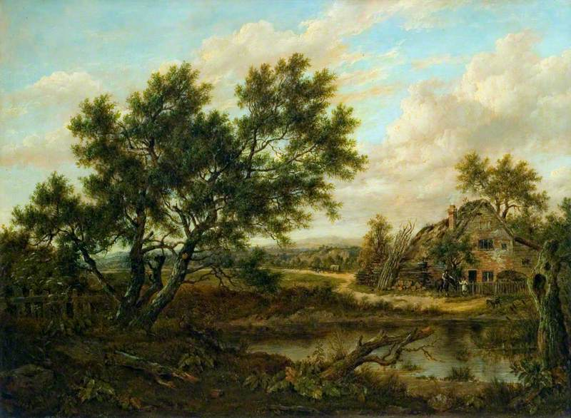 Landscape with a Cottage and Figures