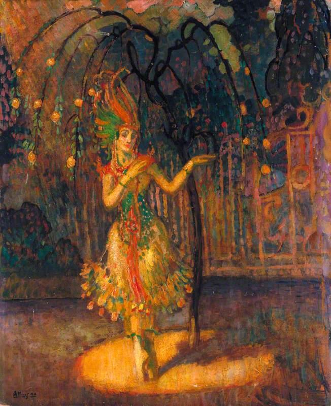 Tamara Karsavina (1885–1978), as the Firebird in 'L'Oiseau de Feu', the Ballet by Michel Fokine