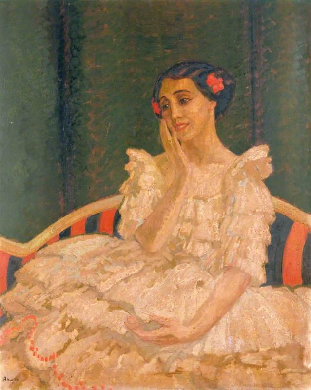 Tamara Karsavina (1885–1978), as Columbine in 'Le Carnaval' by Michel Fokine