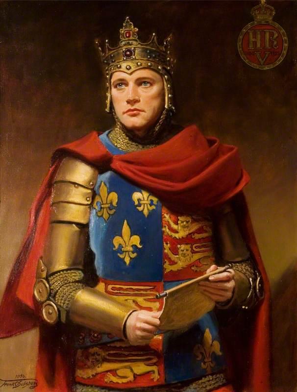 Richard Burton (1925–1984), as Henry V in 'Henry V' by William Shakespeare