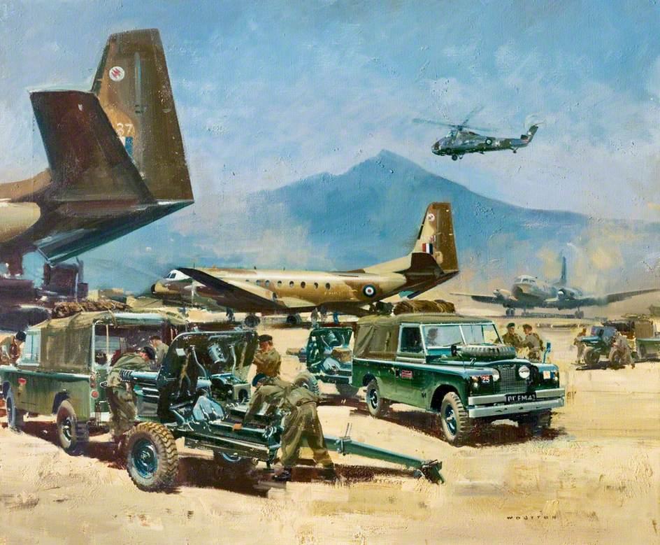 Land Rover in Desert Action