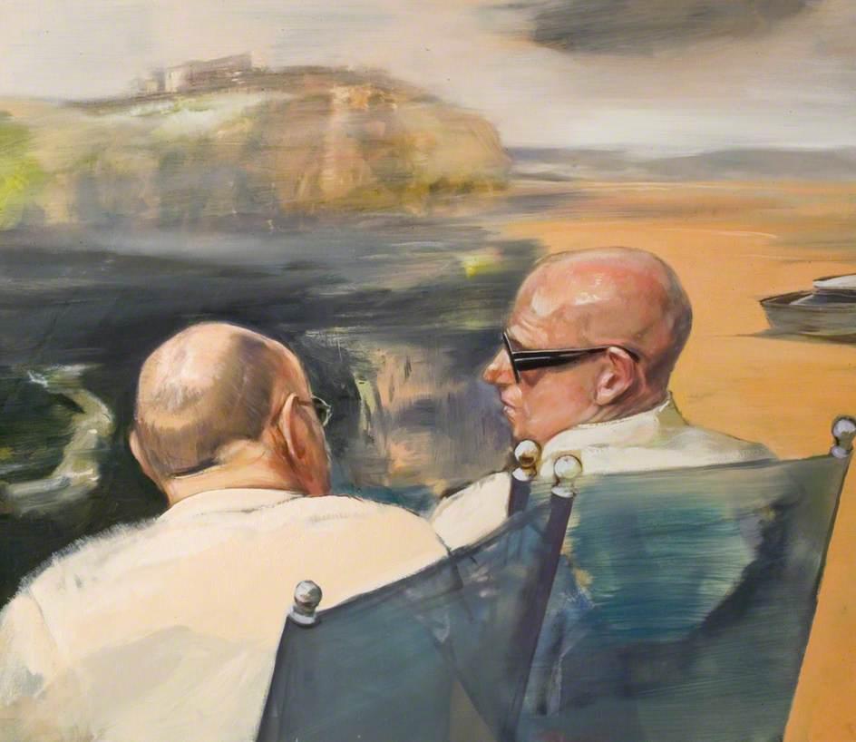 Two Men Discussing a Landscape