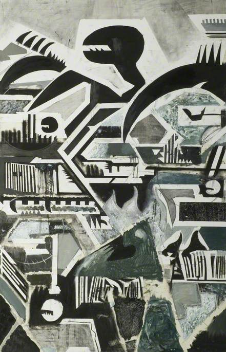 Abstract (Black, White and Grey Green)