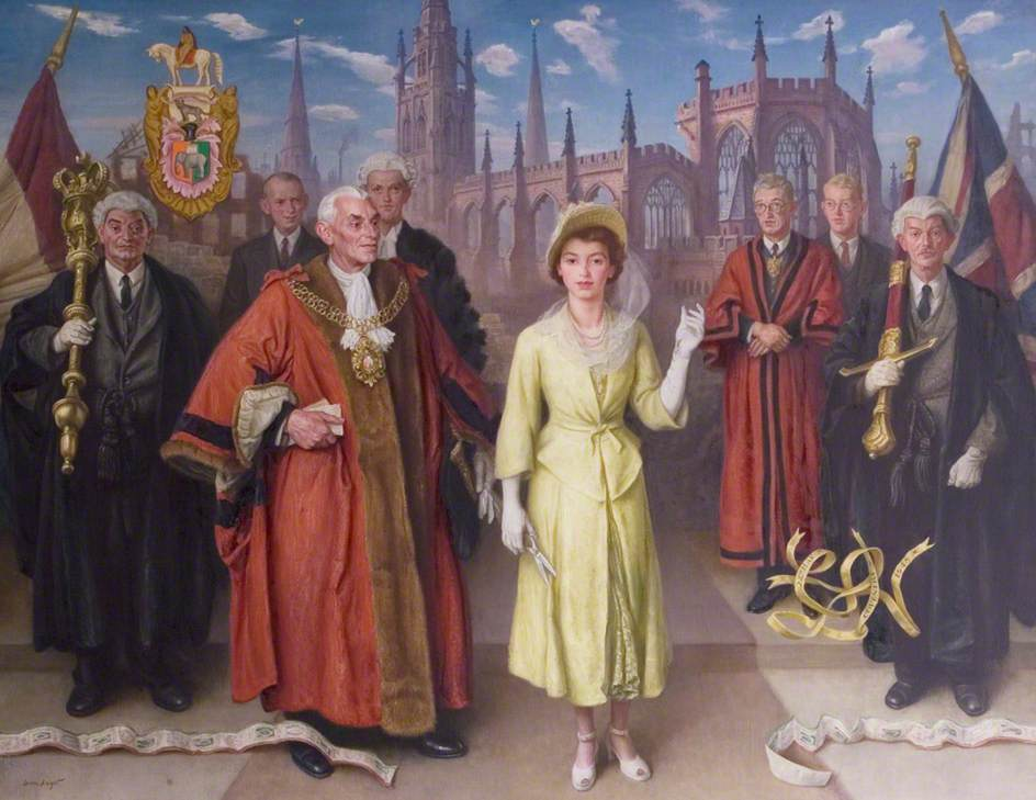 Princess Elizabeth Opening the New Broadgate, Coventry