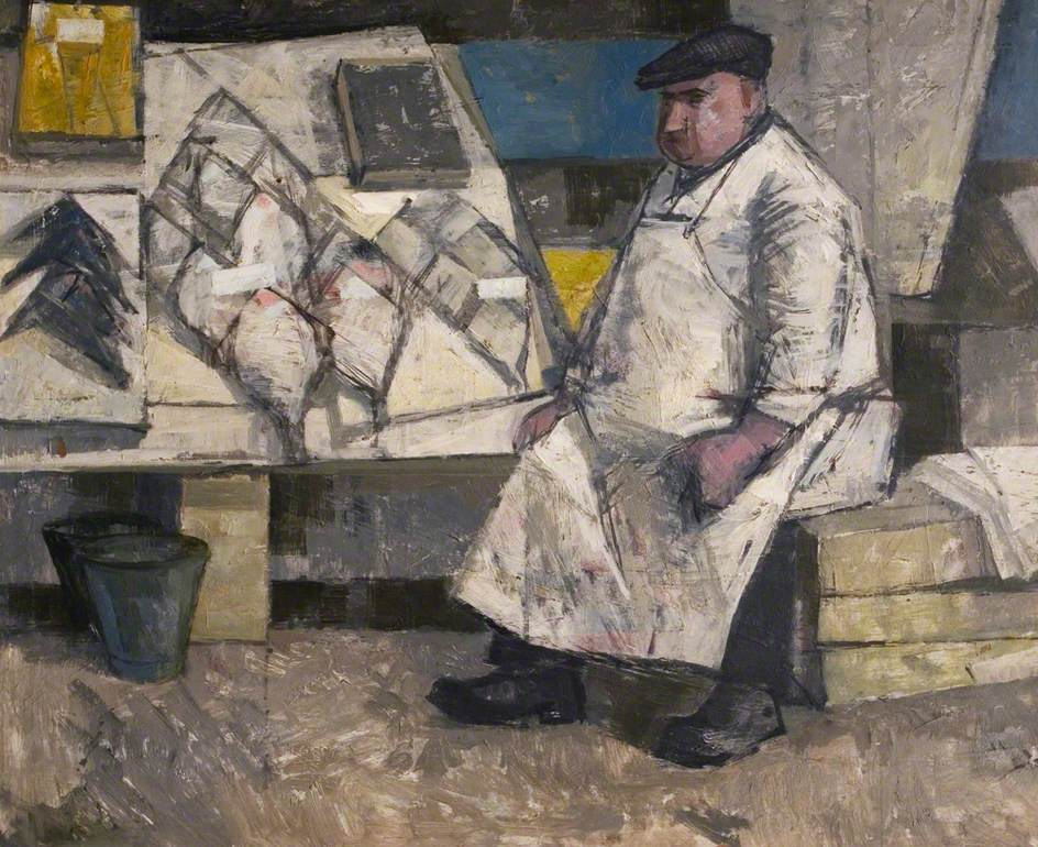 Fishmonger, Barnsley Market, South Yorkshire