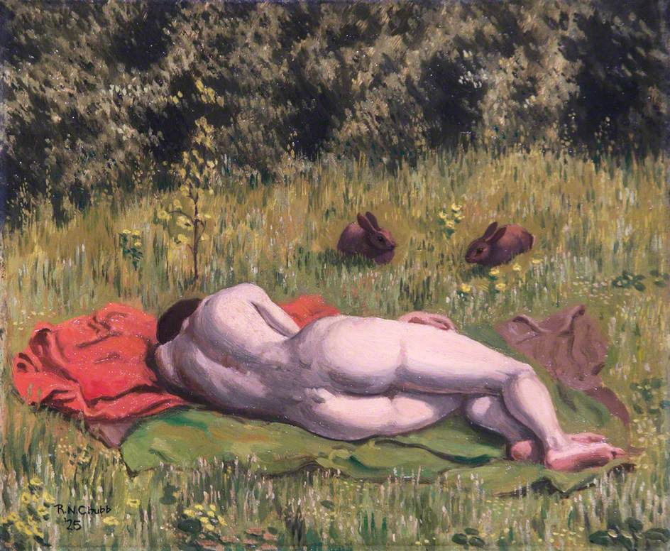 Reclining Nude in a Field