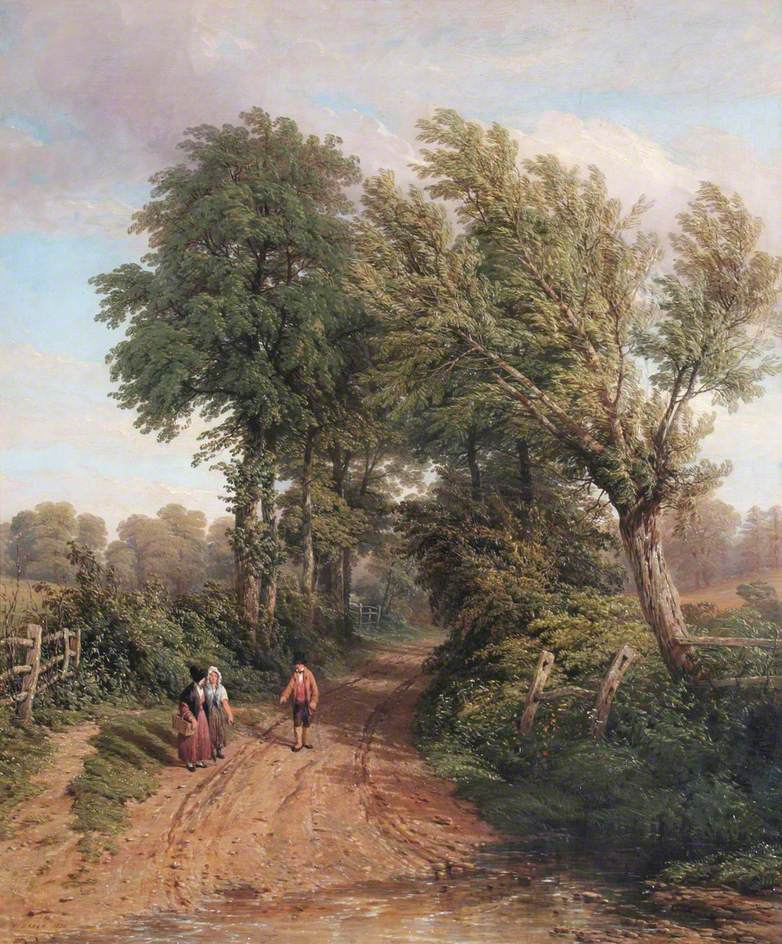 At Snitterfield, Warwickshire
