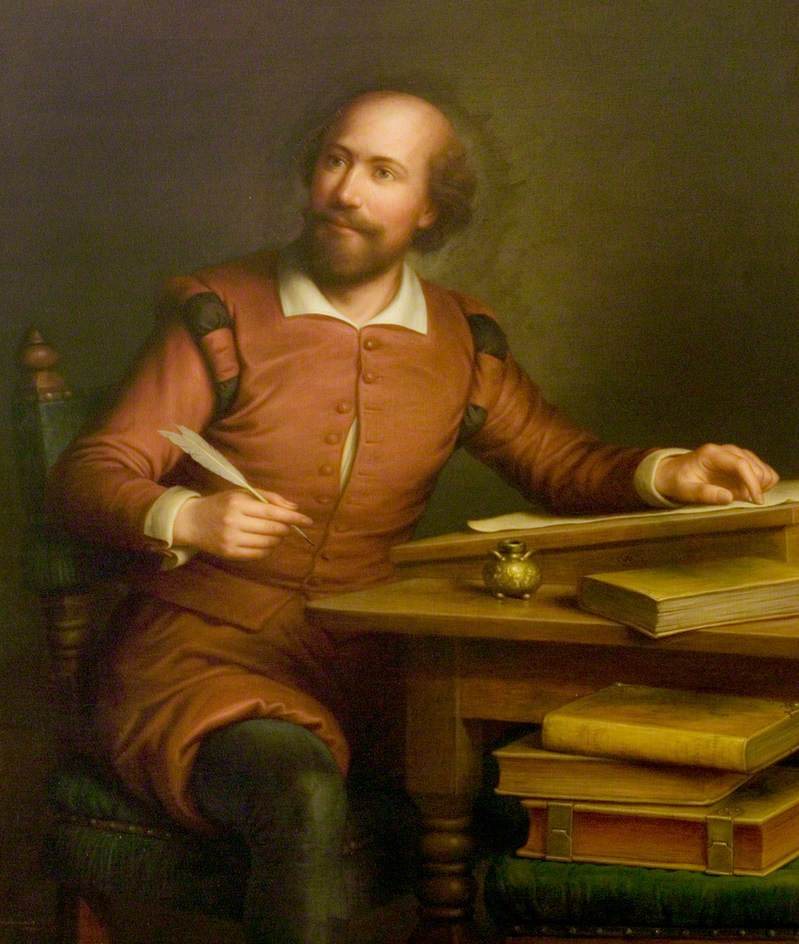 An Ideal Portrait of William Shakespeare (1564–1616)