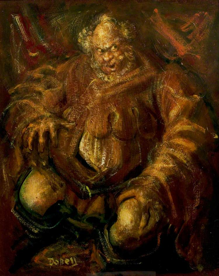 Anthony Quayle (1913–1989), as Falstaff, Stratford, 1951