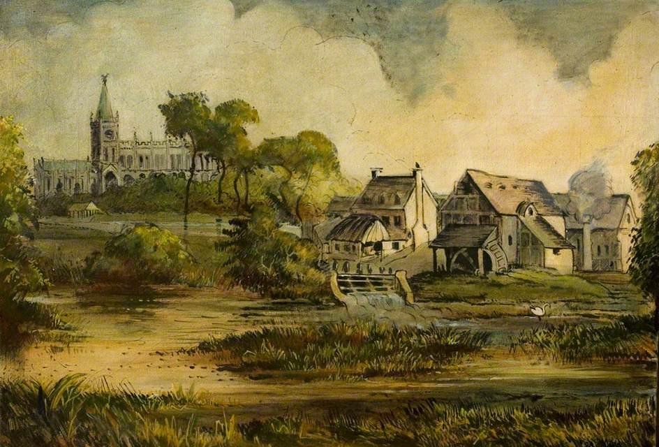 View of Stratford-upon-Avon, Warwickshire
