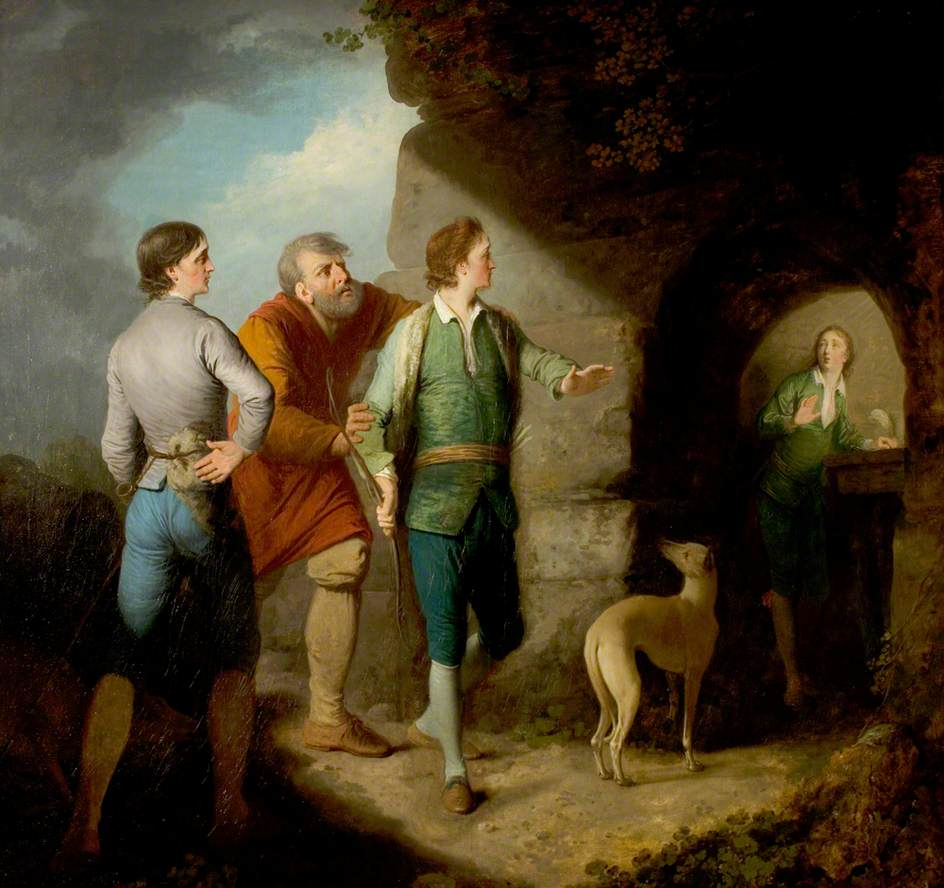 'Cymbeline', Act III, Scene 4, Imogen Discovered in the Cave