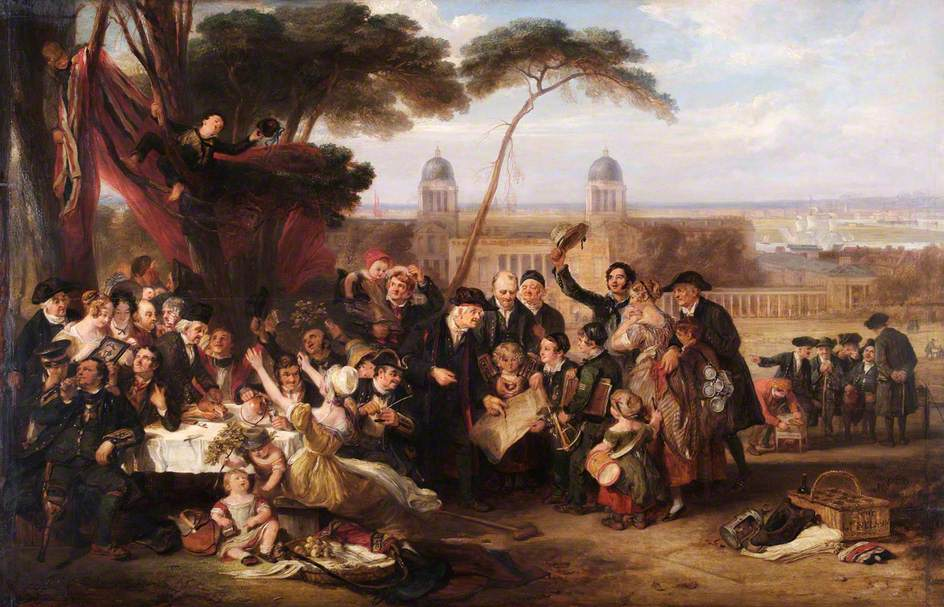 The Greenwich Pensioners Commemorating Trafalgar