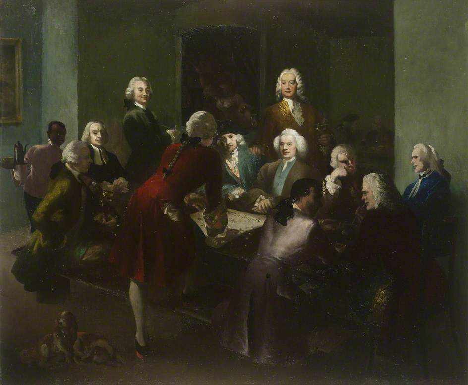 The First Meeting of the Society of Arts at Rawthmell's Coffee House, 22 March 1754