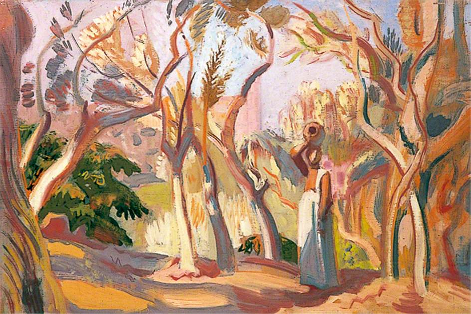 Landscape with a Woman in an Olive Grove