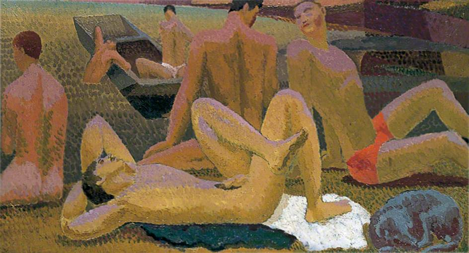 Bathers by the Pond