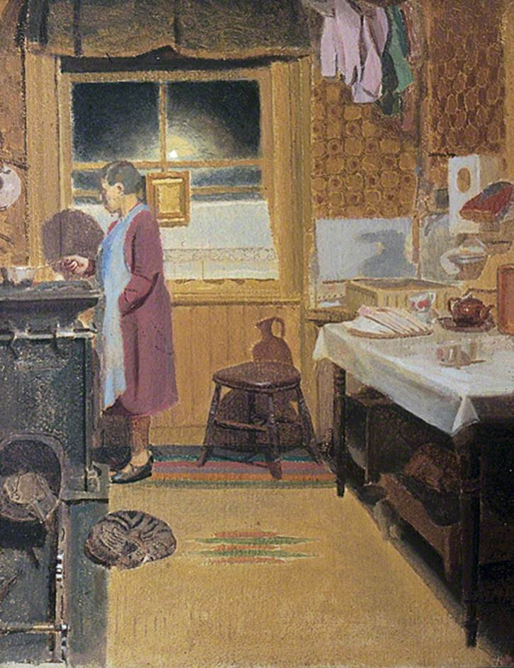 Interior with a Woman Cooking