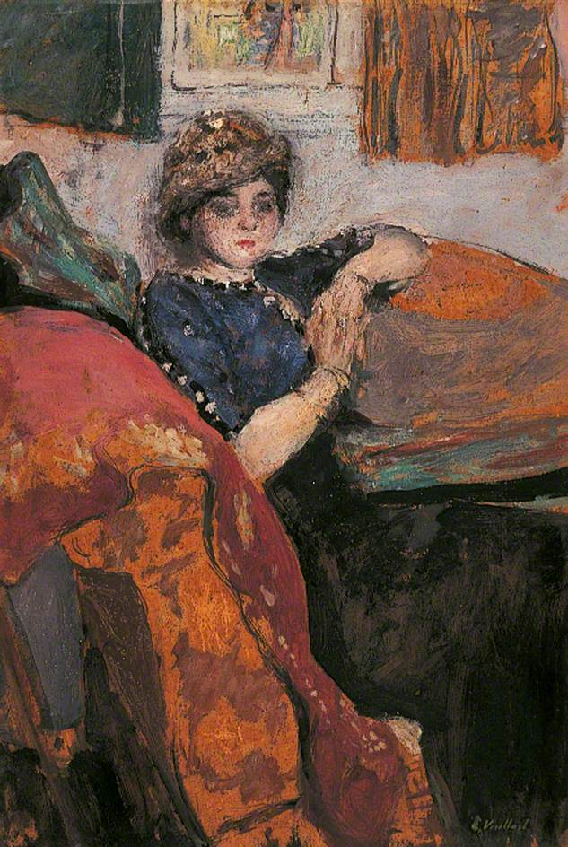 Mlle Nathanson in the Artist's Studio (The Model on a Sofa or Mlle Grandidier)