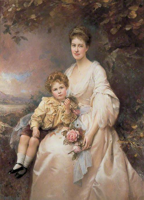 Mrs Laura Gascoigne (d.1949), and Her Son Alvary (1893–1970)