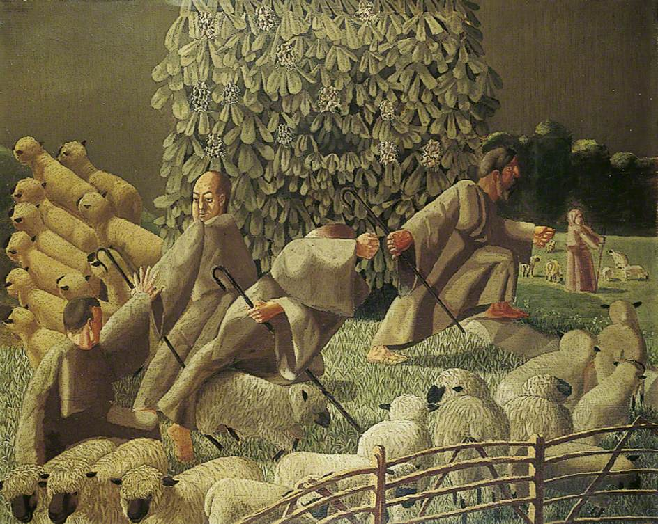 The Shepherds Amazed by Gilbert Spencer, Leeds Art Gallery.