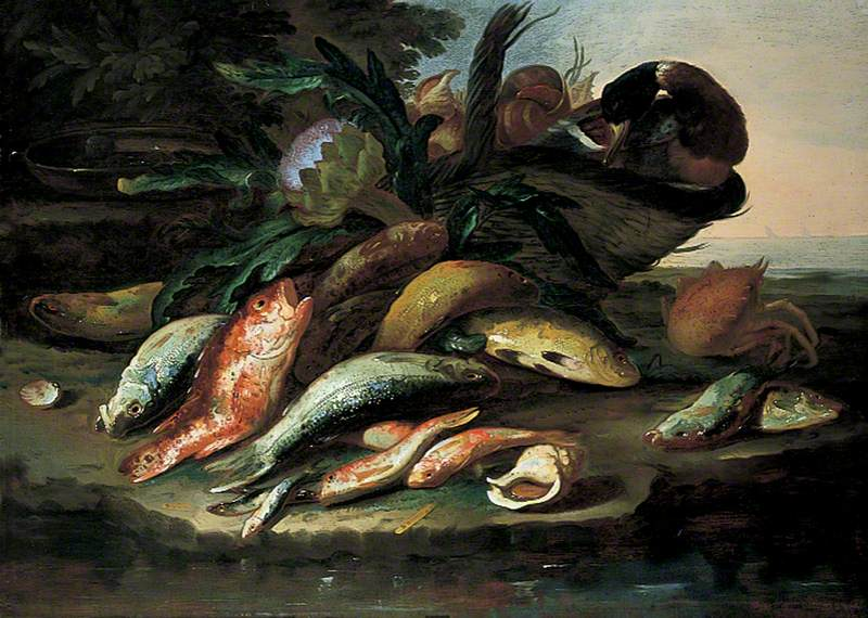 Still Life with Dead Fish and Game