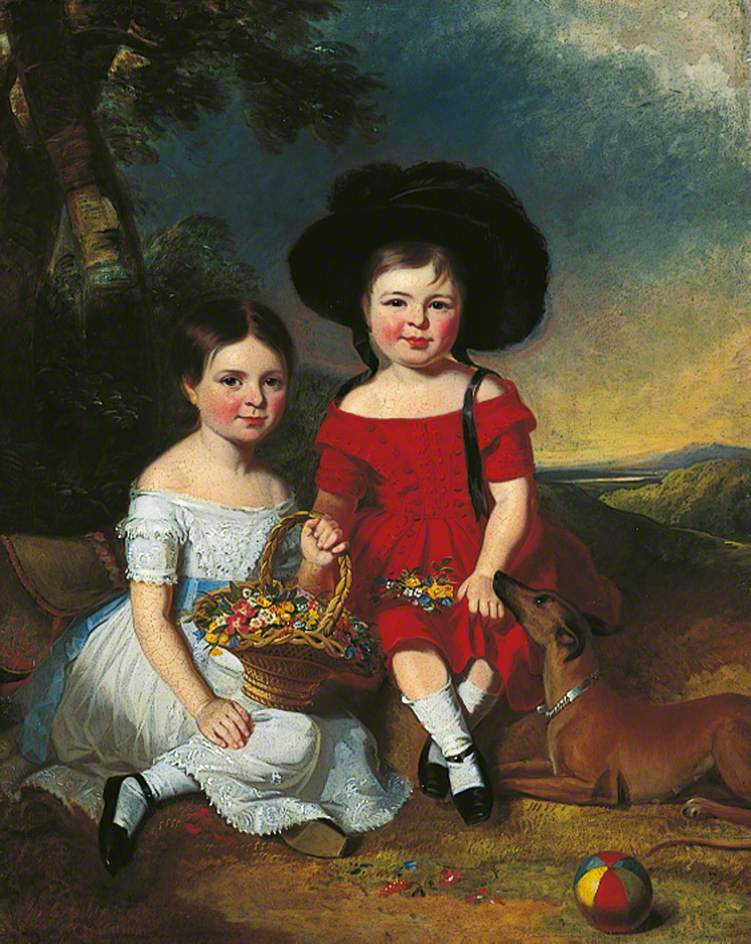 Annie and John Edward, Children of Thomas Rhodes of Leeds