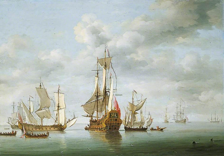 Warships Becalmed