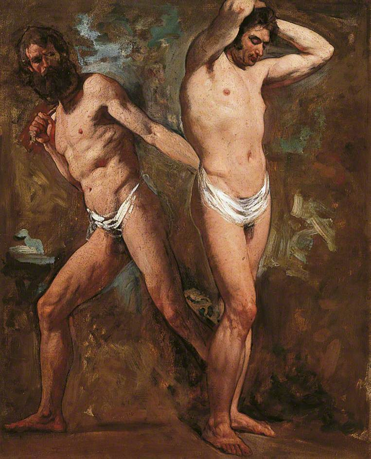 Two Standing Male Nudes