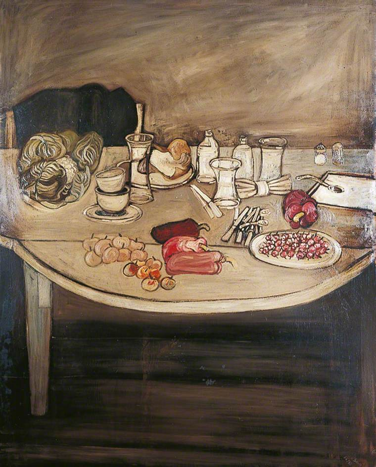 Still Life with a Bowl of Cherries