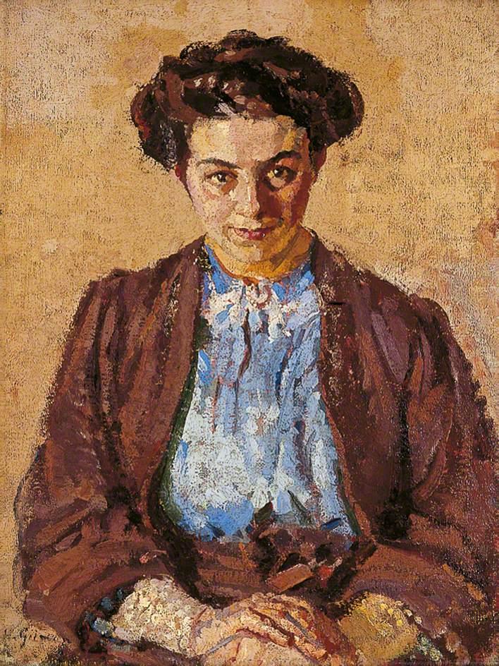 The Blue Blouse (Eléni Zompolides, 1880–1958)