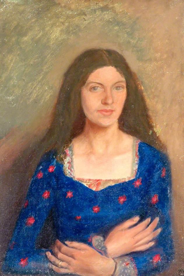 Elizabeth in a Blue Dress