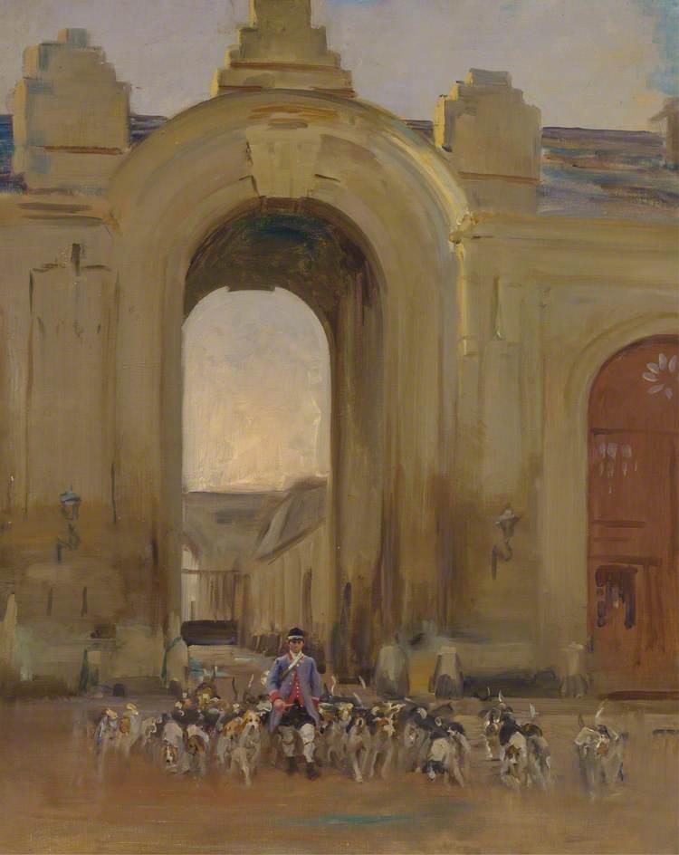 The French Pack at Entrée des Ecuries du Château de Chantilly